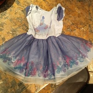 Disney Princess Cinderella Dress blue 3T butterfly